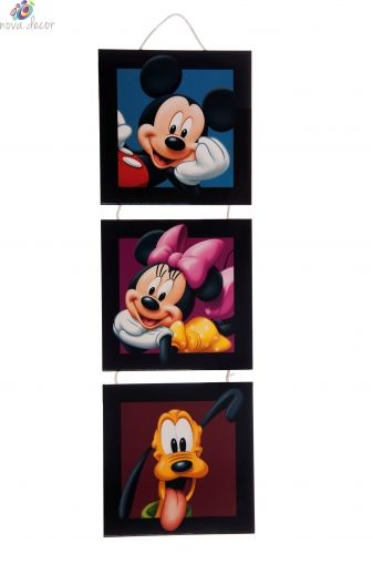 Mickey Mouse 3 parts canvas