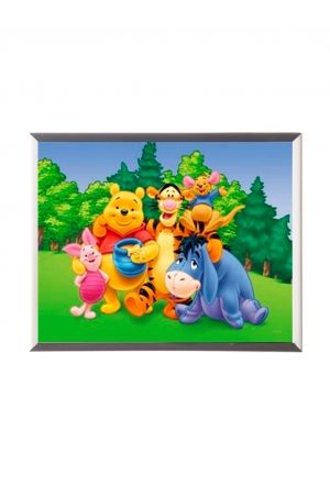 "Mylar framed print ""Pooh and Friends"""
