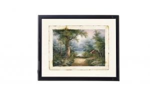 "Mylar framed print ""Twilight in the forest II """