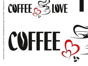 Sticker Coffee and Love