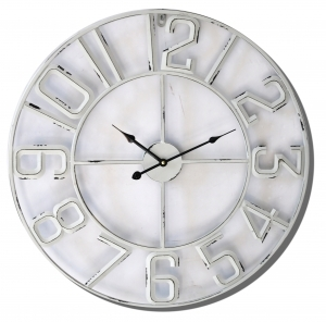Wall clock White metal